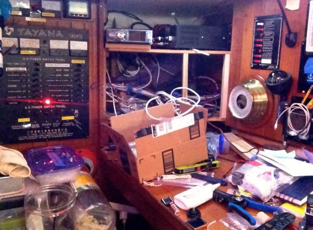 Radio installation mess.
