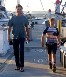 Joe and Trent walking the dock.