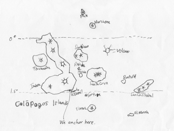 Galapagos Map (drawn by Trent)
