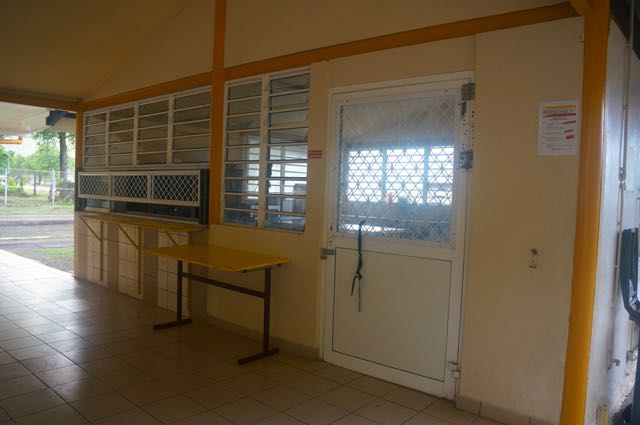 The cafeteria serving station before lunch