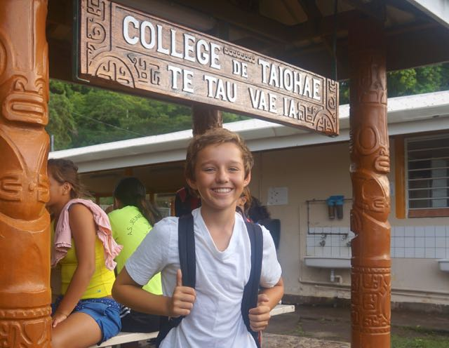 Trent starts French public secondary school in Taiohae, Marquesas