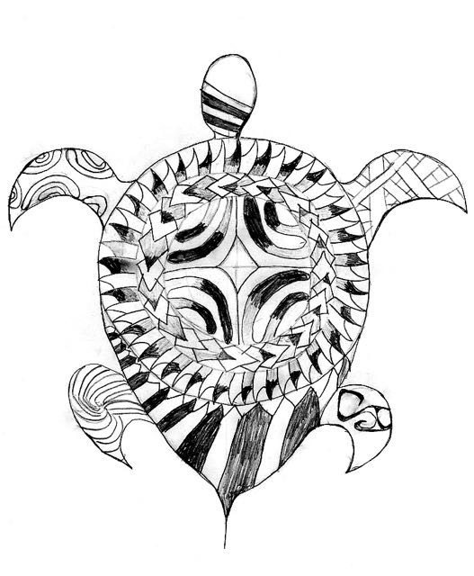 Turtle with Marquesan cross designed by Trent
