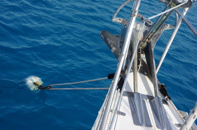 We were very happy to attach to a mooring to avoid hooking on coral heads