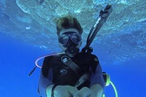 Scuba diving in Fakarava.