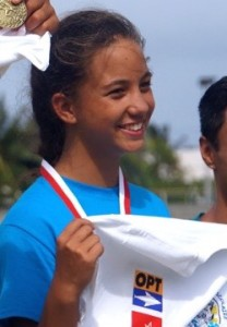 Mihi Boosie winning the chance to go to Papeete where she won 3rd individually in her category.