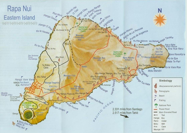 Rapa Nui Map
